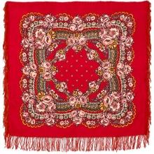 Маков цвет 89 x 89 см Павлопосадский платок