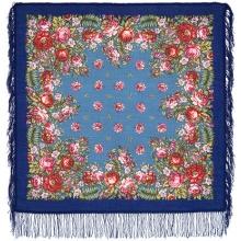 Цветочные луга 89 x 89 см Павлопосадский платок