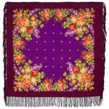 Цветочный сад 89 x 89 см Павлопосадский платок