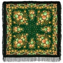 Альпийские луга 125 x 125 см Павлопосадский платок