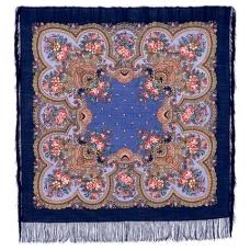 Душевный разговор 125 x 125 см Павлопосадский платок