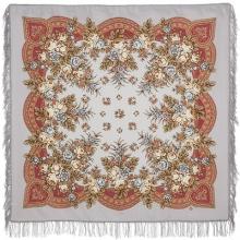 Утренняя свежесть 125x125 см Павлопосадский платок