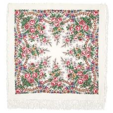 Весенний сад 125 x 125 см Павлопосадский платок