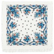 Гжель 146 x 146 см Павлопосадский платок