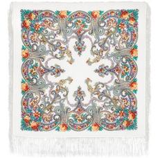 Милый друг (изумрудный) 89 x 89 см Павлопосадский платок