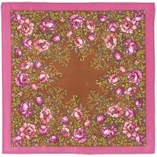 Цветущие маки 65 x 65 см Павлопосадский платок