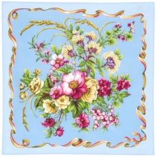 Пестрая лента 65 x 65 см Павлопосадский платок