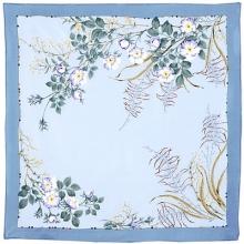Белый шиповник 89 x 89 см Павлопосадский платок