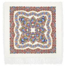 Романтика (светлый) 89 x 89 см Павлопосадский платок