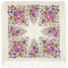 Цветочное утро 89 x 89 см Павлопосадский платок