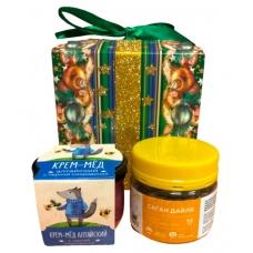 Подарочный набор крем-мед+чай PD102