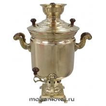 """Самовар на дровах (угольный) 7 л банка латунь """"Юбилейный"""""""