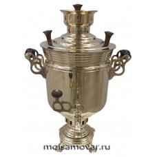 """Самовар на дровах (угольный) 5 л банка латунь """"Суксунский"""""""