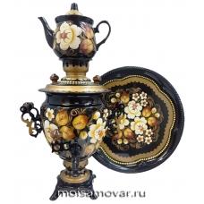Набор самовар расписной 3 л Сказочные цветы арт.1224-2