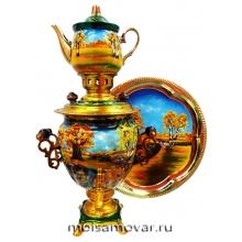 Набор самовар электрический 3 л Золотая осень арт.1403-2