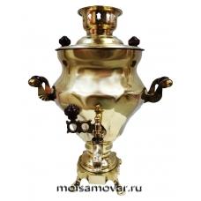 "Самовар электрический 3 л латунь форма ""Груша"" арт.1106"