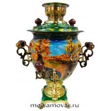 Cамовар расписной 3 л Золотая осень арт.2303-2