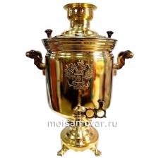Самовар комбинированный 7 литров банка с гербом
