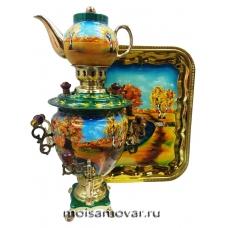 Набор самовар электрический 3 л Золотая осень арт.1403-3
