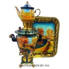 Набор самовар электрический 3 л Золотая осень арт.1403-5
