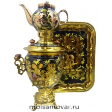 Набор самовар электрический 3 л Золотой петушок арт.1407