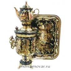 Набор самовар электрический 3 л Золотой петушок арт.1407-2