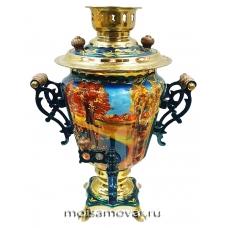 Cамовар расписной 3 л Золотая осень арт.2303-3