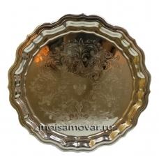 Поднос круглый никель Артикул 1084