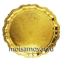 Поднос круглый латунь Артикул 1082