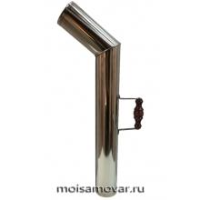 Труба никелированная с деревянной ручкой арт.2102