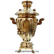"""Самовар на дровах (угольный) 3 л форма """"рюмка"""" латунь"""